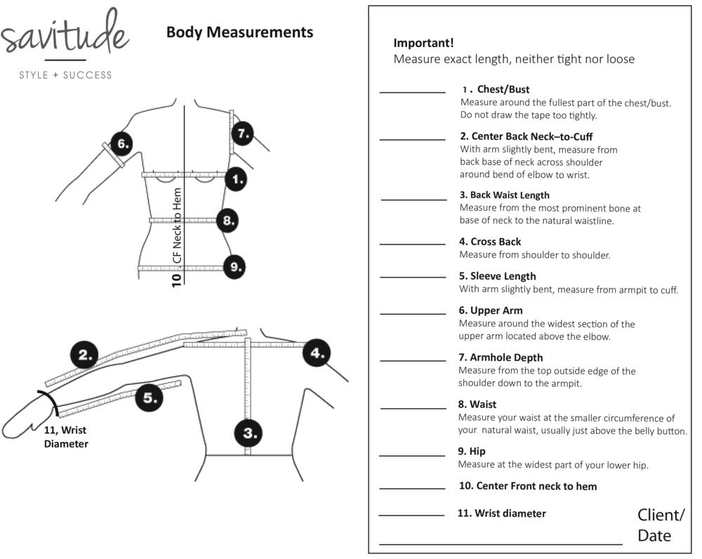 Jacket measurements