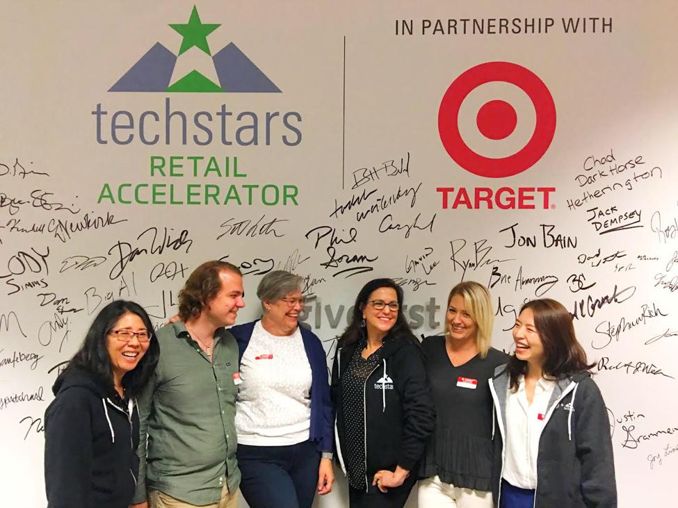 Team Savitude at Techstars left to right: Kelli Howard, Nick Clayton, Camilla Olson, Beth Blecherman, Corey Kelly and Jungah Lee.