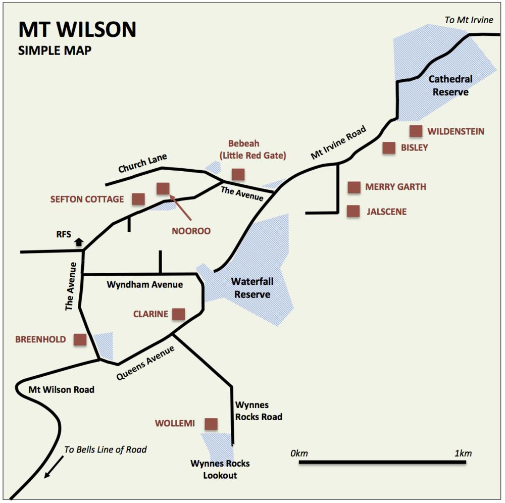 Simplified Map of Mt Wilson