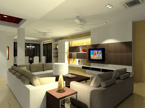 Interior Design Living Room 3D 1