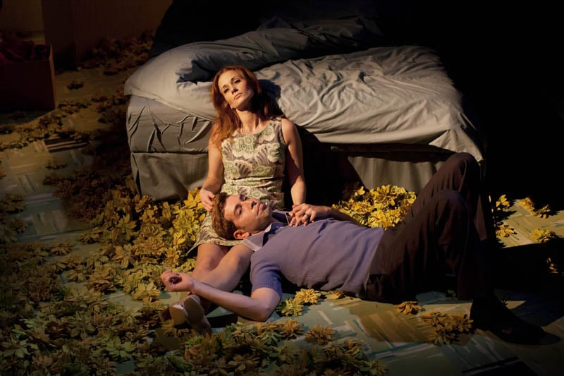 Leanne Rowe (Magaret) and Edward Bennett (William) in Frantic Assembly's Lovesong (Credit - Johan Persson).jpg