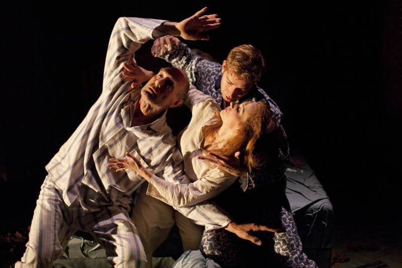 Sam Cox (Billy) Edward Bennett (William) and Leanne Rowe (Margaret) in Frantic Assembly's Lovesong (Credit - Johan Persson).jpg
