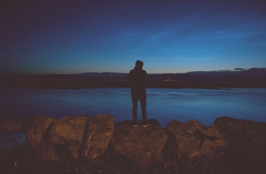 A photo taken of her friend, after travelling and arriving at 4am in Norway. During Norway's summer period where there is always light.