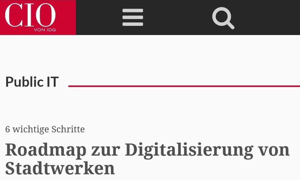 Digitale Transformation - Eine Vorgehensbeschreibung für die digitale Transformation von Stadtwerken. Wir haben einen agilen Framework angewandt.