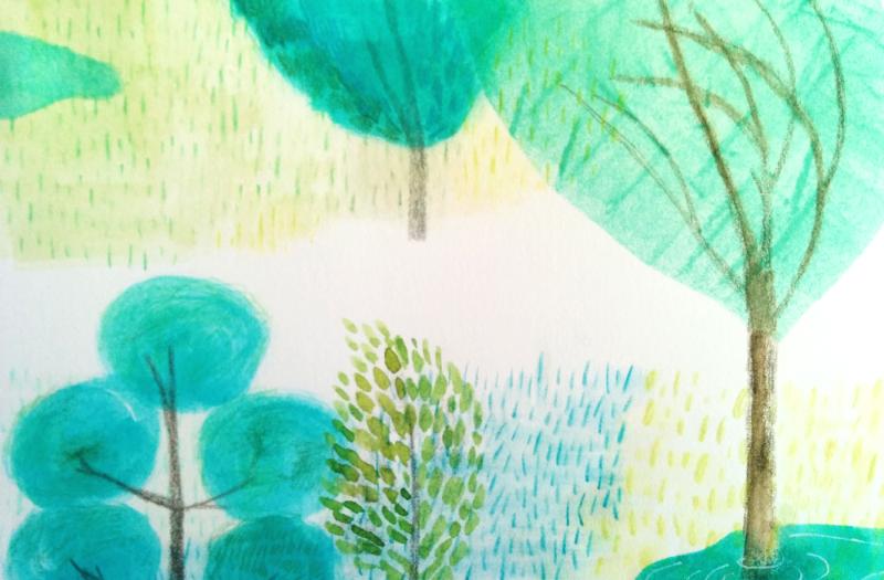 < 눈물이 왈칵 >   나무나무