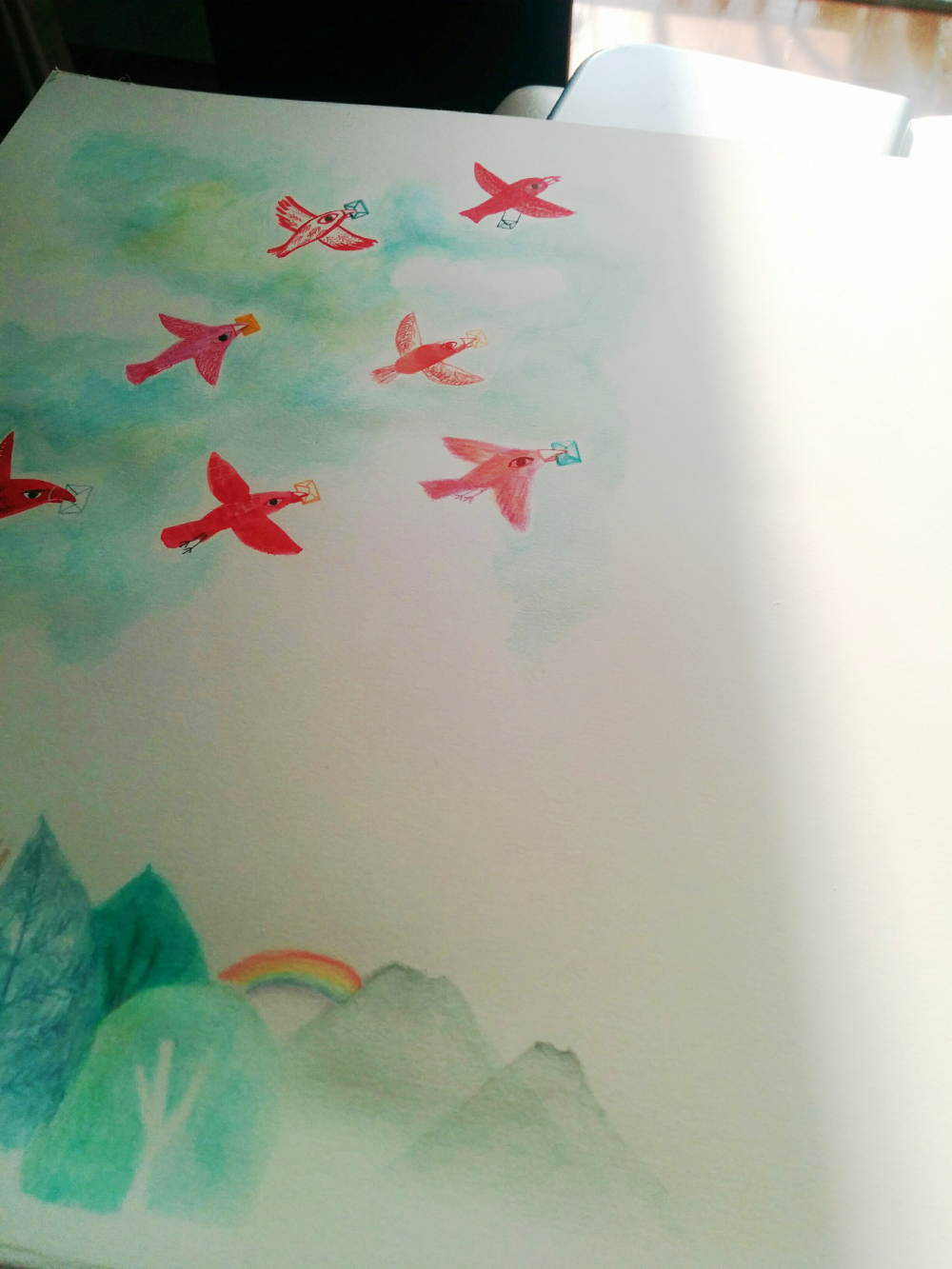 < 눈물이 왈칵 >   새들은 하늘높이