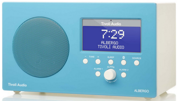 "Tivoli Albergo    $249    We use the same 3"" full range, long-throw driver found in our highly acclaimed Model One table radio. This allows top-notch sound quality from a cabinet that occupies remarkably little space, unlike many of the clock radios found on the market today."