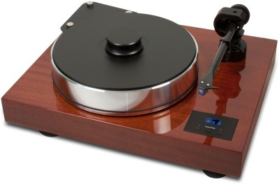 Pro-Ject Xtension 10 Evolution     See in store for special price   • Super-heavy 22 kg belt drive turntable - Mass loaded magnetic floating subchassis - Precision balanced sandwich-platter - Inverted ceramic ball bearing with magnetic support - Heavy weight record clamp - Extremely low level of natural resonance - Perfect decoupling through magnetic feet - Electronic speed control 33/45/78 RPM - Tonearm 10cc Evolution made from carbon fibre