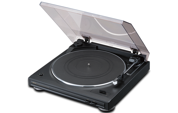 Denon DP-29F Reg: $219 Sale: $189 The DP-29F includes a built-in phono equalizer to connect the unit to an integrated amp that does not have its own equalizer. This turntable is powered by a DC servo motor and belt drive system and operated at the 33 1/3 or 45 rpm speed. It comes with an MM cartridge so that you can begin to enjoy your analog record collection as soon as you connect the DP-29F to your home hi-fi system.