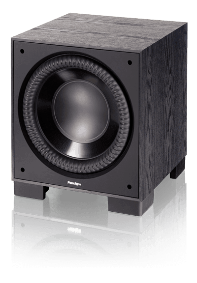 Paradigm Monitor Sub 12 Reg: $1340 See in store for special pricing A compact footprint without compromising bass output or bass extension. Trickle-down Paradigm Reference technology … despite cone size, the NLC™ non-limiting corrugated Santoprene® surrounds help cones move huge volumes of air for bass so loud and so deep it will send the cat running for cover. State-of-the-art room-tuning technology. Don't worry about perfect placement, put the sub where it looks best and let Paradigm's Perfect Bass Kit™ (sold separately) dial in perfect bass.
