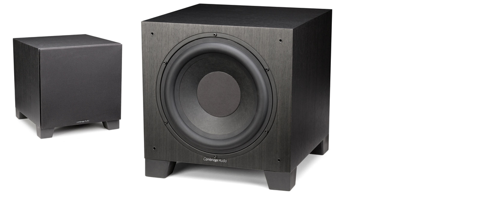 "Cambridge Audio Aero 9 Reg: $949       Sale: $835 The Aero 9 features a high-efficiency 500W Class D amplifier powering a front-firing 10"" subwoofer driver and a 10"" down-firing ABR (Auxiliary Bass Radiator) for a serious 21-200Hz frequency. These drivers enable the Aero 9 to deliver seriously sumptuous and accurate bass – that runs in perfect cinematic concert with the Aero speakers."
