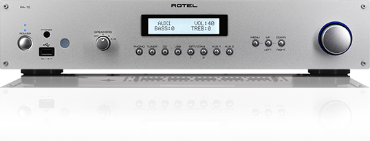 Rotel A-12 Reg: $1099   See in store for discount The A12 integrated amplifier displays the same clean lines and intuitive operation as the A14 with output power rated at 60 watts per channel RMS into 8 ohms. Rotel engineers begin their quest for uncompromising audio performance at the power supply. This is the heart of an amplifier and an area where considerable time and investment is spent. Rotel manufactures its own toroidal transformers in-house to high tolerances using raw materials selected from proven, trusted suppliers. The result is a rugged power supply that won't easily distort the music under dynamic conditions or with diŽfficult speaker loads.