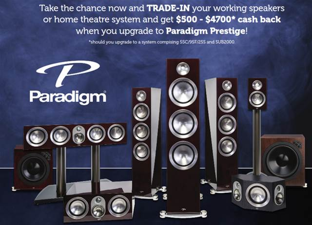 Paradigm Prestige Theater Systems    See in store for details - Peak Audio Ltd is the only Canadian retailer currently offering this promotion!