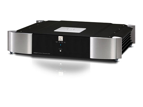 "Moon 810 LP Reg: $14000 See in store for discounts! A dual-mono fully balanced differential design, the MOON 810LP is our first Evolution Series phono preamplifier. Representing an ""all out assault"" on phono preamplification resulting from a combination of customized parts in an ultra-refined audio circuit which is mounted on a floating suspension and fed by a unique power supply. Its highly configurable nature - selectable gain, impedance loading, capacitance loading and equalization curves - is accomplished using DIP switches located on the bottom panel. These switches are located directly in line with the circuit at optimal locations to yield the shortest possible signal path. These adjustments, in conjunction with an excellent overload margin, allow the MOON 810LP to work with virtually any available phono cartridge."