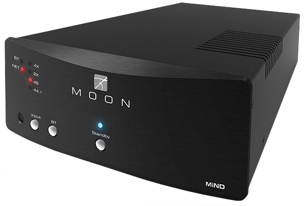 Moon MiND Neo Streamer - $2300 MiND (MOON intelligent Network Device) is much more than a product. It is a way of organizing, listening to, and enjoying your music. MiND technology streams music from your digital music library to your audio system, allowing playback via your amplifier and speakers. Your library can consist of music stored on your computer, on a Network Attached Storage (NAS) device, or you can simply stream music.