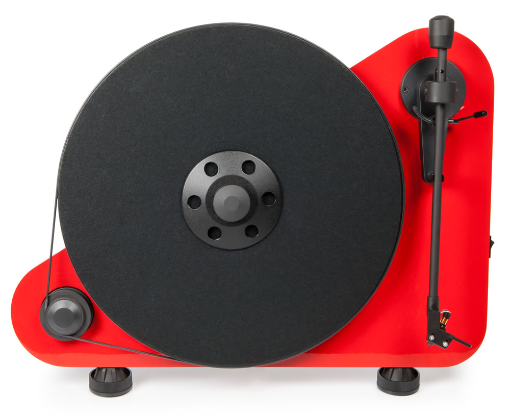 Pro-Ject Vertical    starting at  $499   A turntable set-up does not need to be complicated like rocket-science, our VTE turntable proves that. This good sounding belt-driven deck offers 2 versions for left– and right-handed users. The VTE turntable can be positioned on a table or mounted on a wall. The fastest installation process is made possible, because it comes pre-adjusted out of the box. No further set-up is needed. Tracking force and anti-skating are carefully set. The turntable is available in black matt, red matt or white matt col-our.
