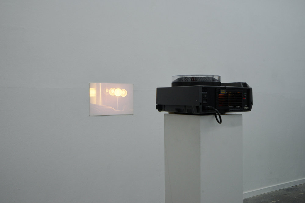 Sun Dog , 2017, 35mm slide projection