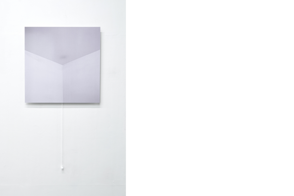 Hot Air Rises,  2017, ctype print on aluminium, varnish, light switch