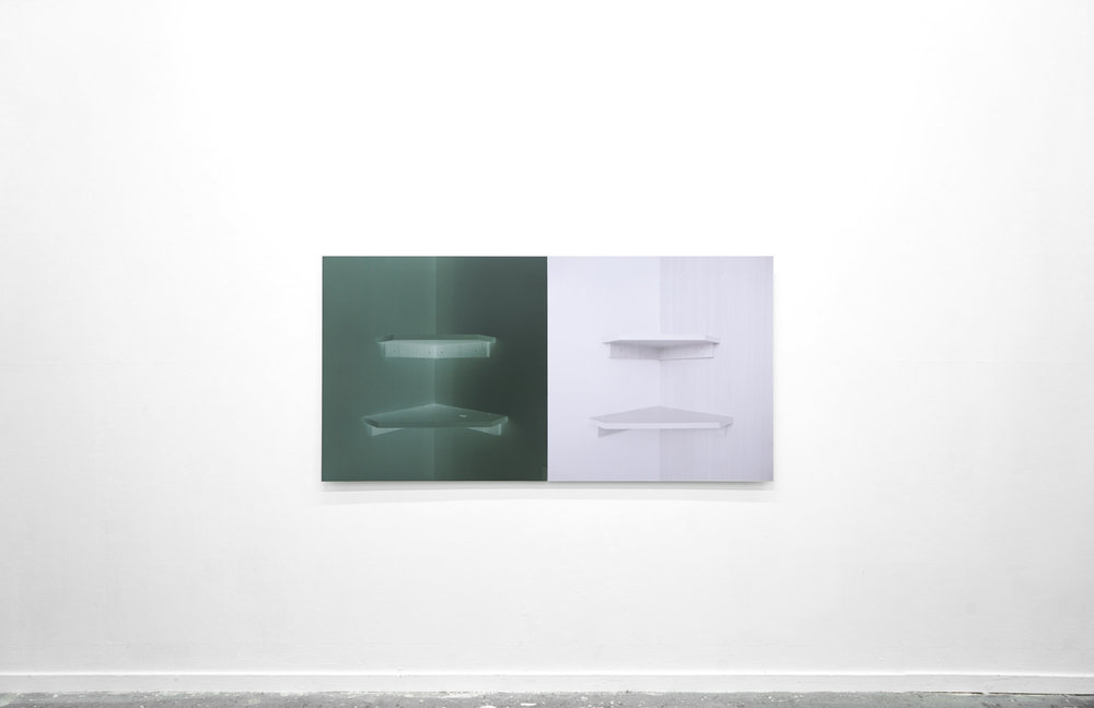 Always Departures, Never Returns,  2017, 74 x 148 cm diptych, ctype print mounted to aluminium
