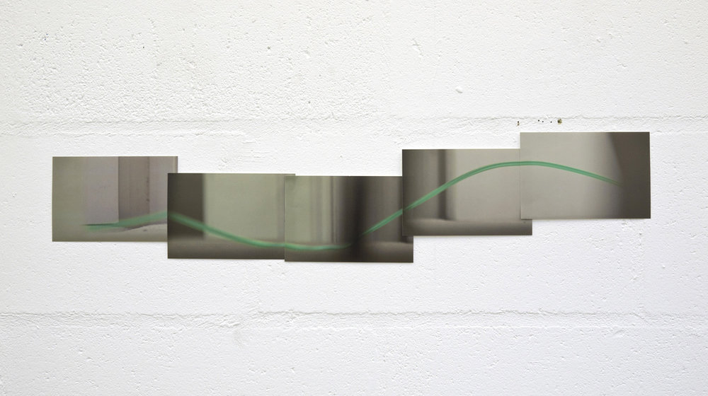 The Green Line,  2016, 18 x 76 cm, ctype print collage