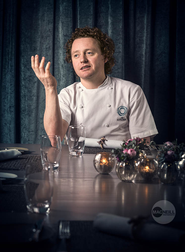 Michelin starred Tom Kitchin, The Kitchin, Leith.