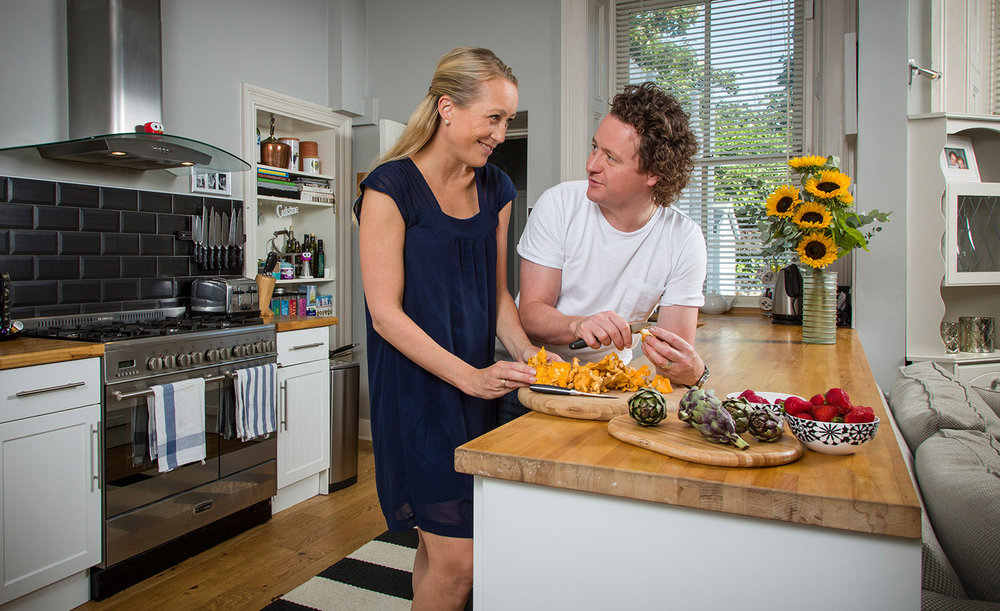 Tom and Michaela Kitchin - ' At Home' for BBC Good Food Magazine.