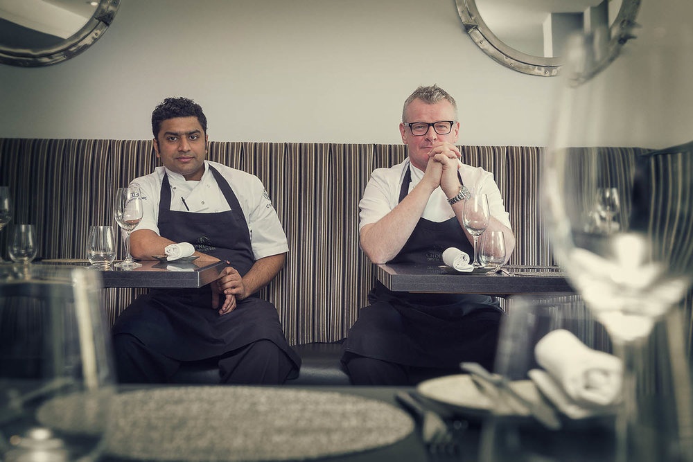 Ishu Mehrotra and Roy Brett    -  The Caterer review at Ondine, Edinburgh.