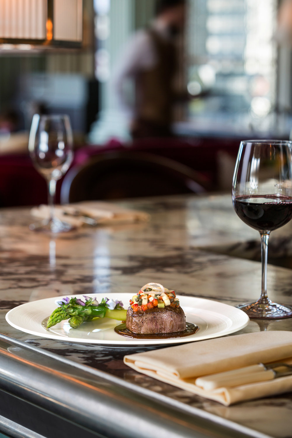 Fillet Steak, Gleneagles -  Recipe image shot in their newly restored Century Bar.