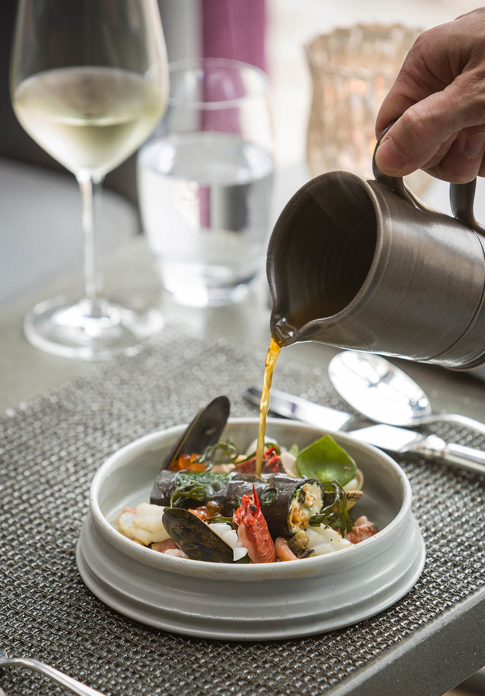 Signature dish, The Kitchin  -  From a shoot for The Caterer and Hotelkeeper.