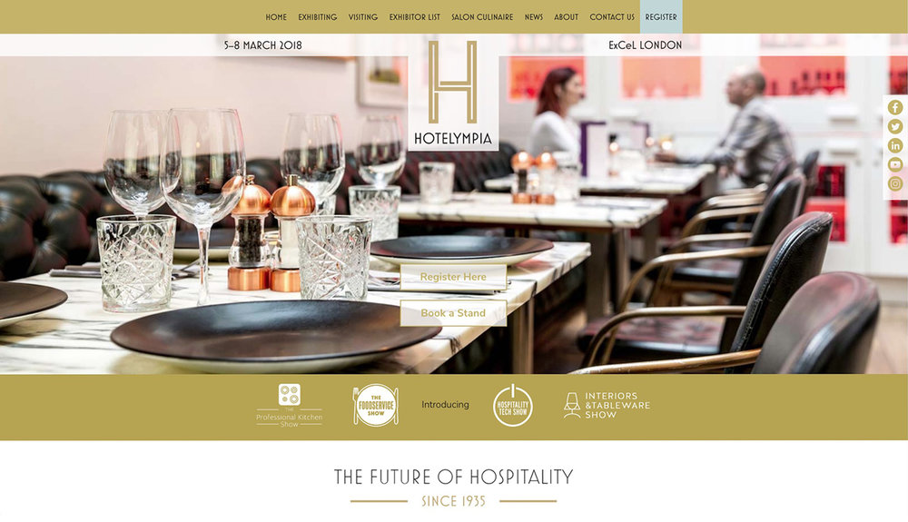 Hotelympia 2018  - Table setting for a series featuring aspects of the hospitality industry. Read Whitelight Media's  case study on the project  .
