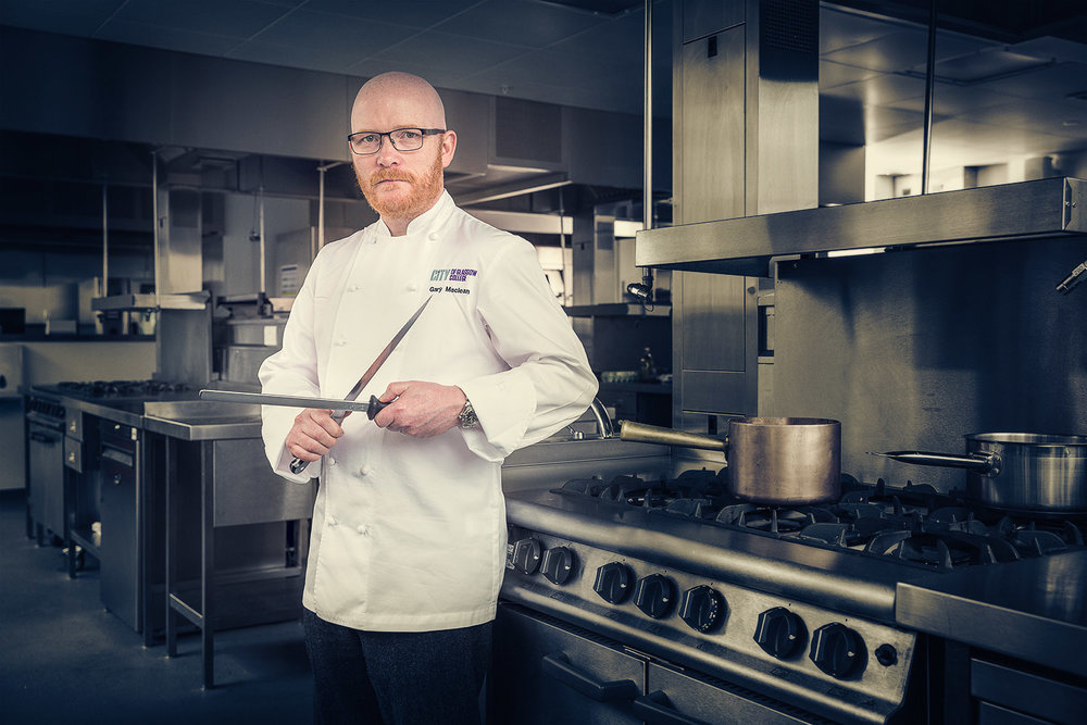Gary Maclean, MasterChef: The Professionals, winner  - FS Magazine shoot for a step-by-step 3-course supper article.