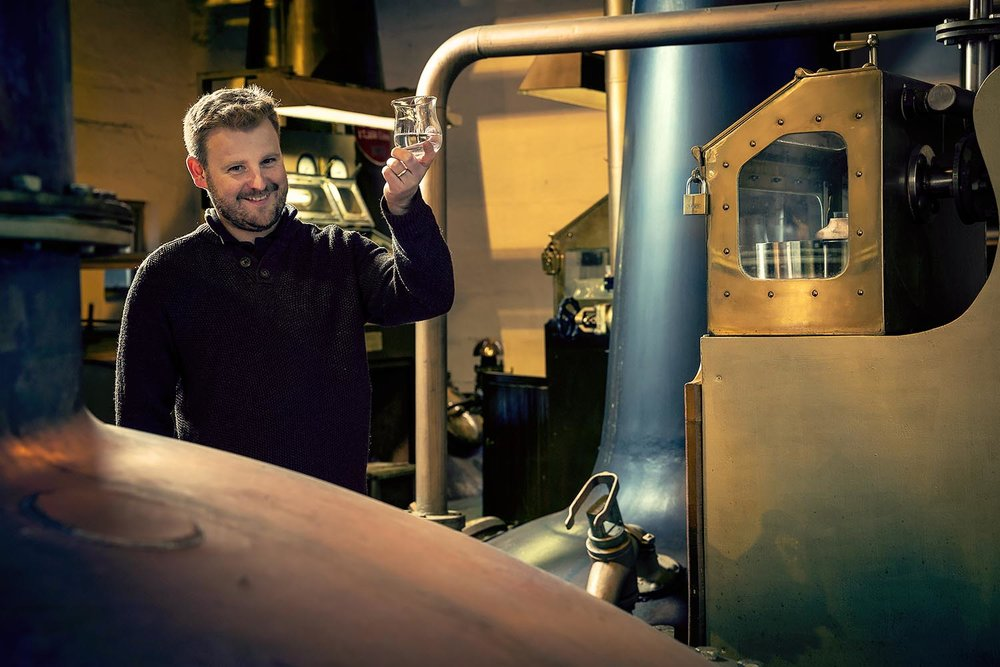 Adam Hannett and The Botanist Islay Dry Gin  - 'Meet the Producer' portrait for Waitrose Weekend.