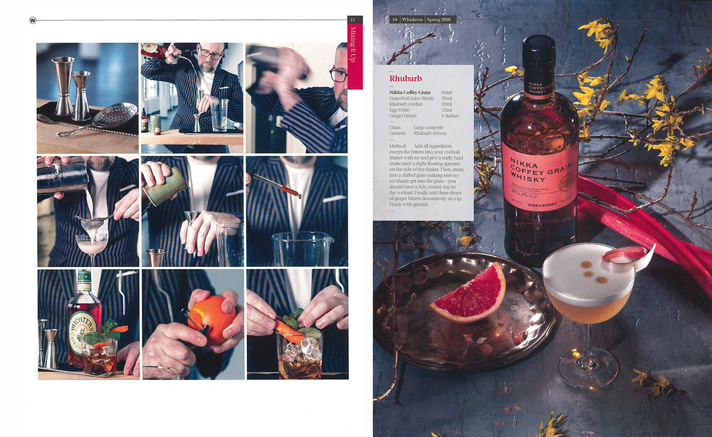 Whiskeria magazine - Contributions from art director,stylist and mixologist all help to get the right result.