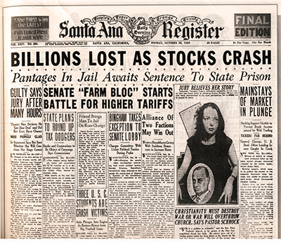 The crash dominated all headlines around the globe.