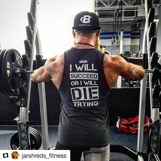 @jarshreds_fitness in the succeed or die trying tank, looking swole. Tank and select tees on sale. Check link in bio. #pursuitofiron #activewear #fitnessapparel #fitnesswear #Fitness #getfit #igfit #fit #motivation #dedication #determination #strong #train #trainhard #strength #strengthtraining #powerlifting #bodybuilding #grind #gains #workout #gym #gymlife  #Repost @jarshreds_fitness (@get_repost) ・・・ This is my THERAPY. Literally. I struggle with myself and my internal battles daily, but when I'm in yhe the gym the Iron Never Lies... I Will Succeed or I will die trying! Bet. Just a little less than 8 weeks out from the @opbacomp #opbacomp shirt from The Pursuit of Iron. @pursuitofiron #irontherapy #ironneverlies #gaintrain