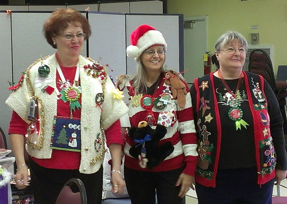 Ugly Christmas sweater winners