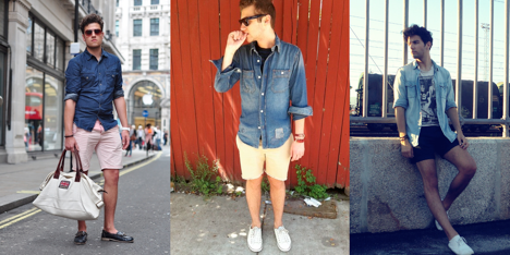 1e08a4feba0 WORN OPEN. This is the most basic way to wear a denim shirt ...