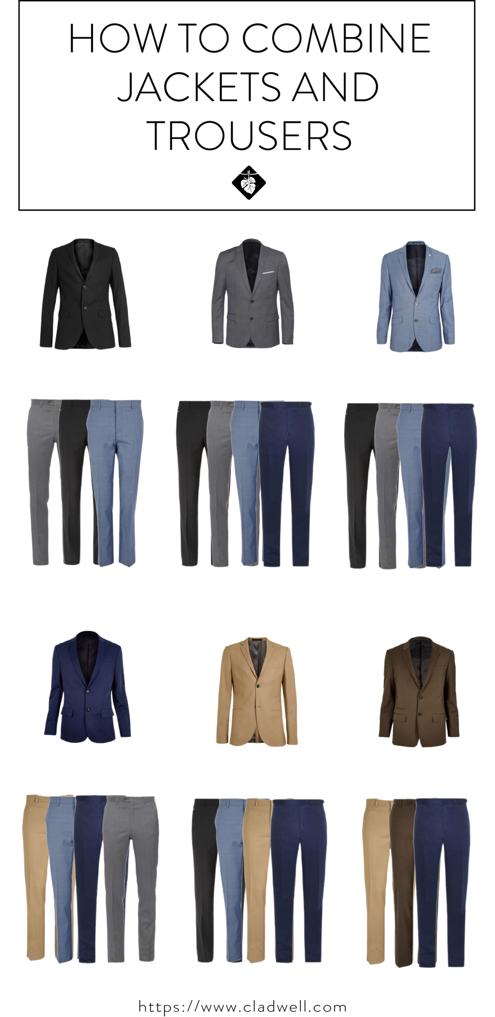 How To Combine Jackets And Trousers For Your Capsule Cladwell