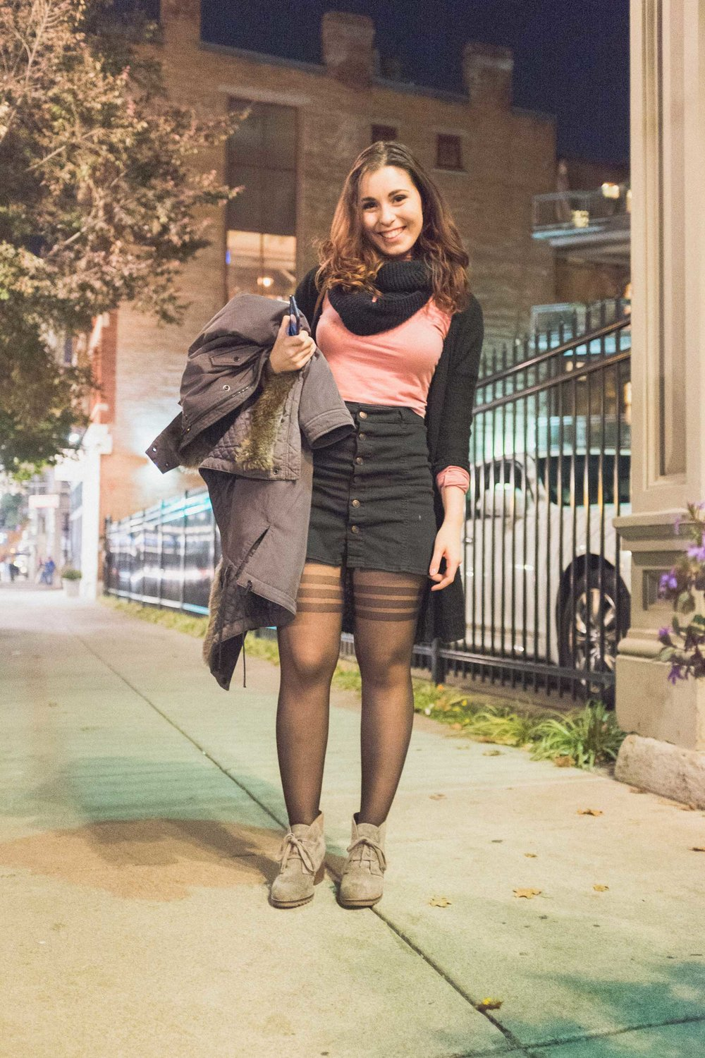 Amanda thrifted her shoes and loved them so much she built an outfit around them.