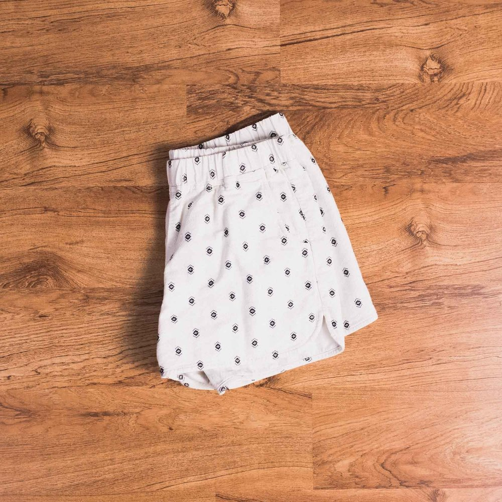 Patterned shorts (Madewell, old. Similar here and here.)