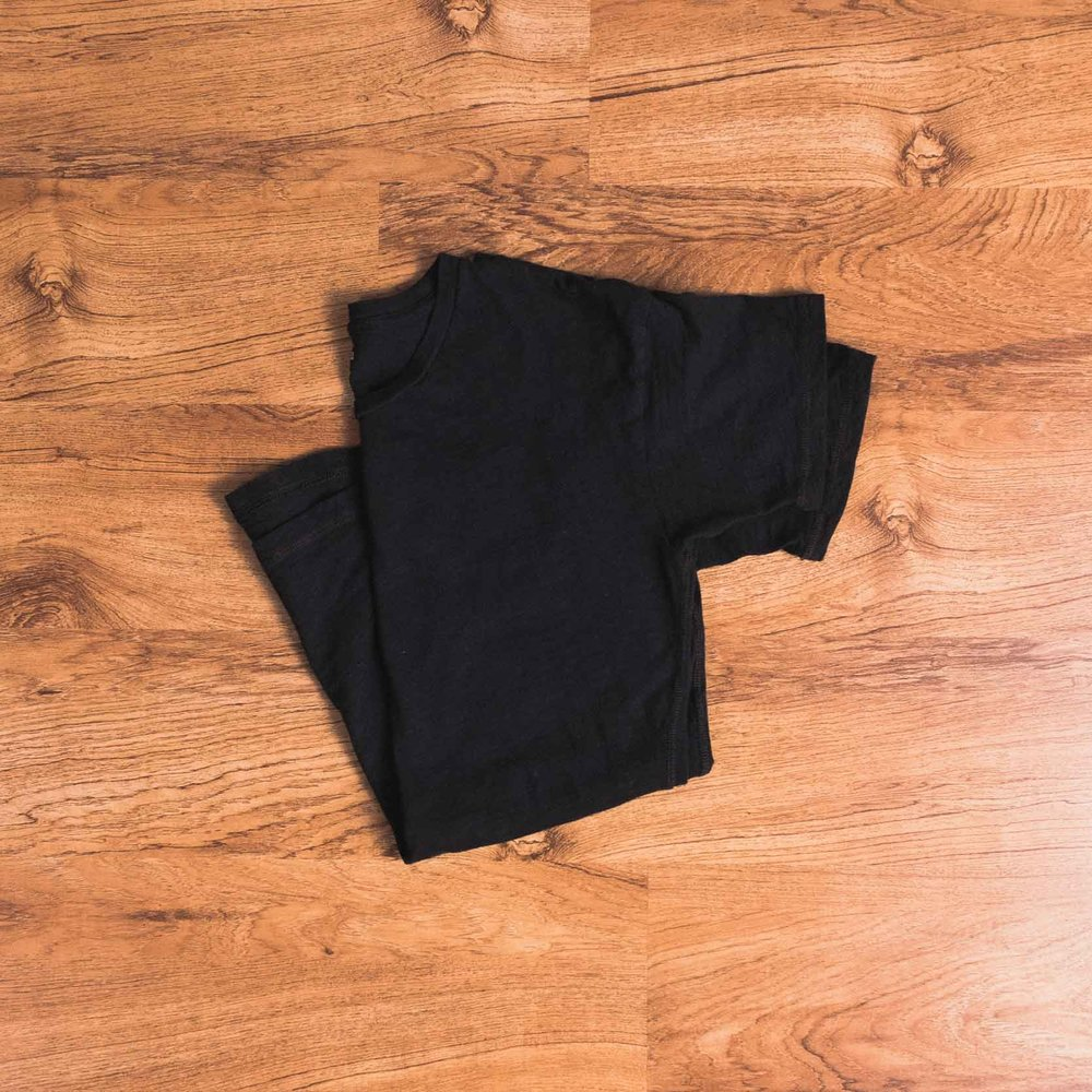 Black tee (Madewell, old. Similar here.)