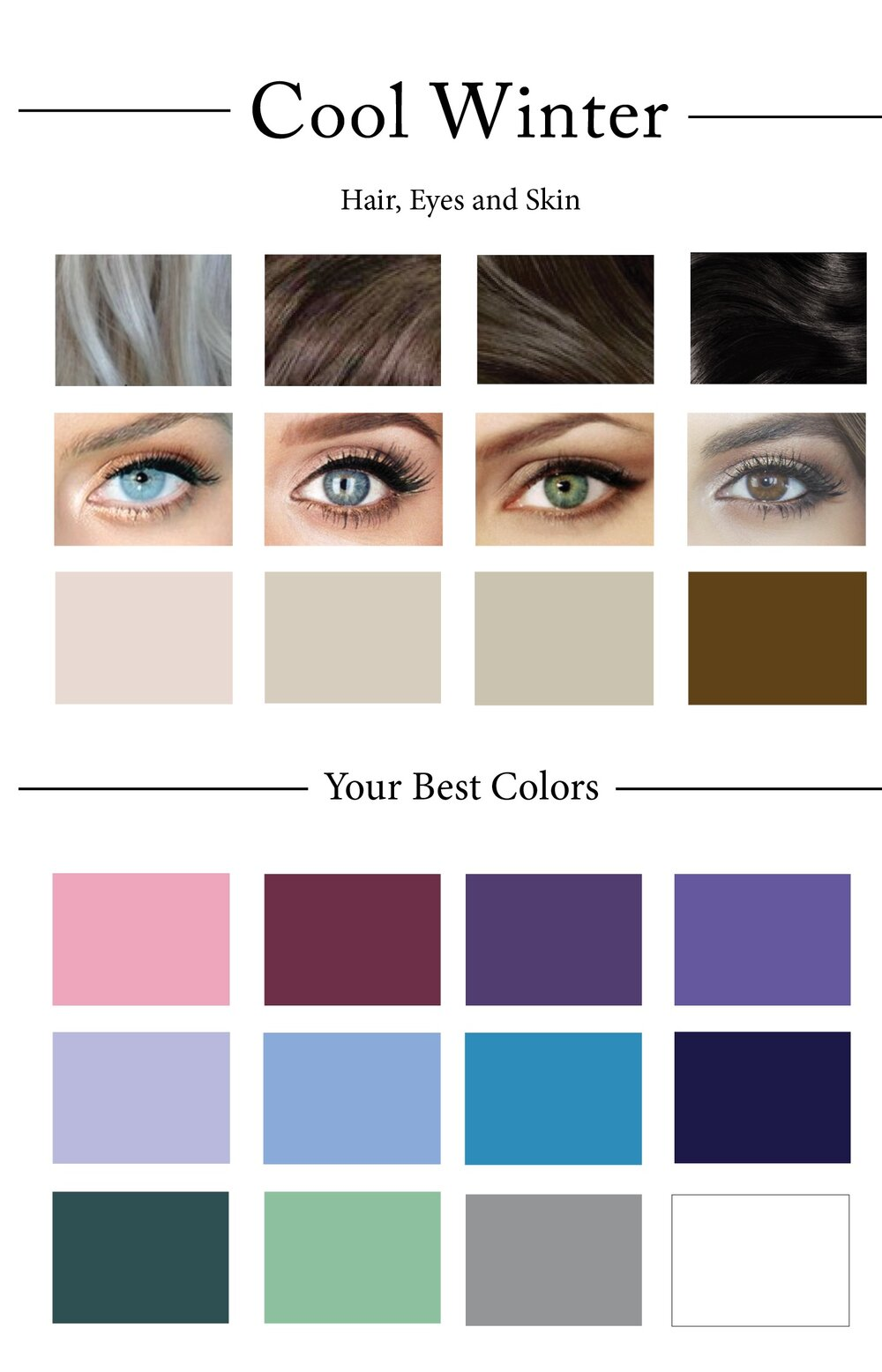 How to create your personal color palette plus take our color winter color palettes geenschuldenfo Images