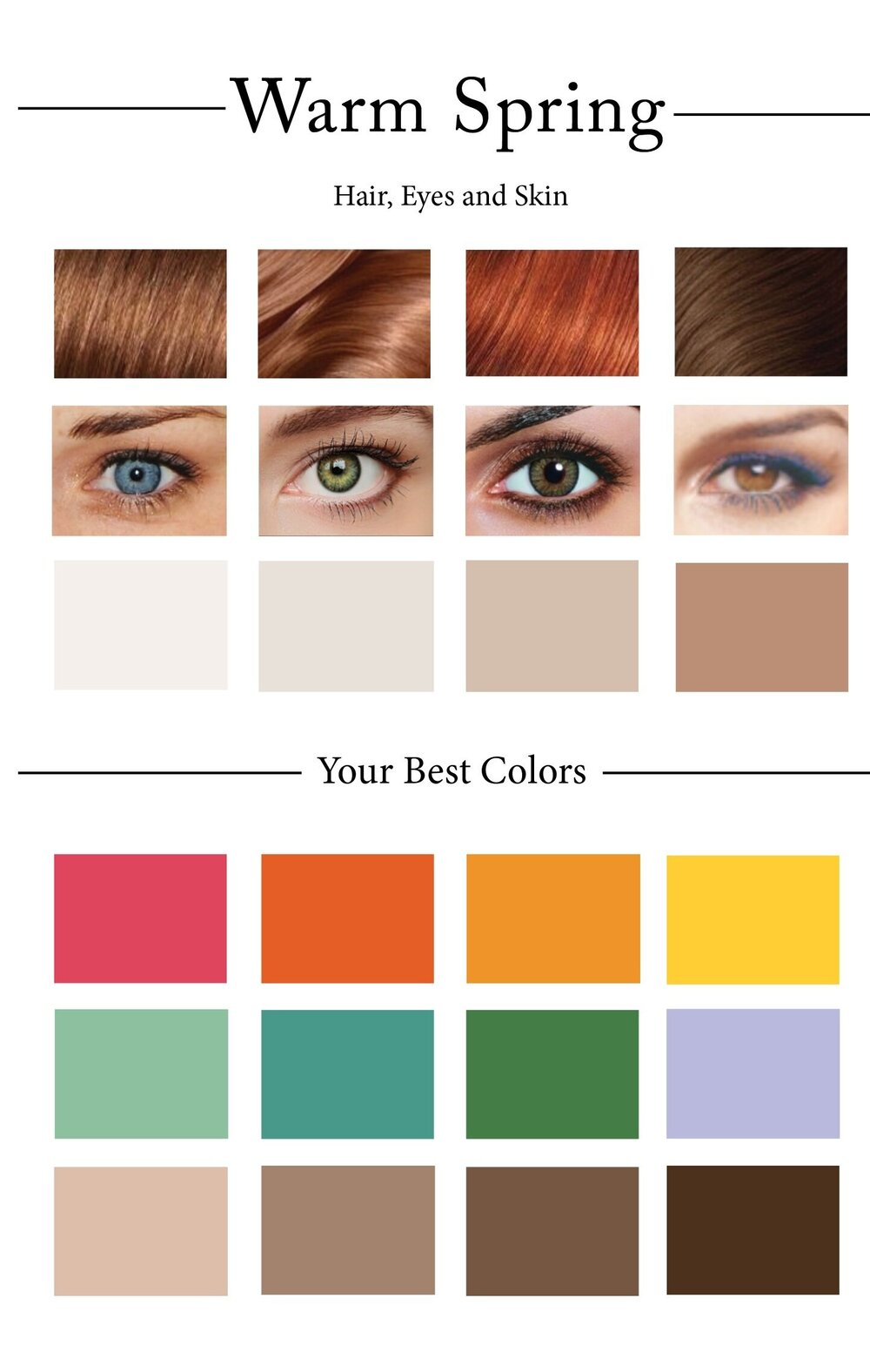 Warm Color Palette Cool How To Create Your Personal Color Palette Plus Take Our Color Review