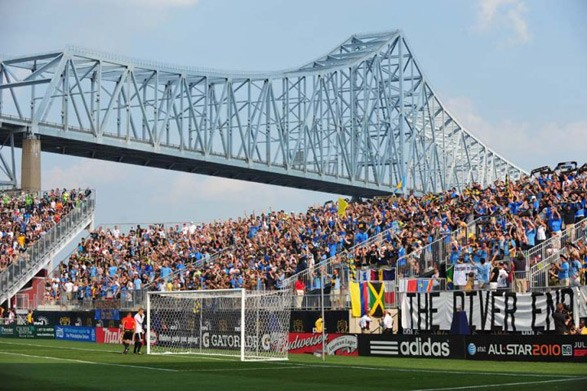 The River End where the Sons of Ben and the rest of the Union faithful cheer on the Philadelphia Union