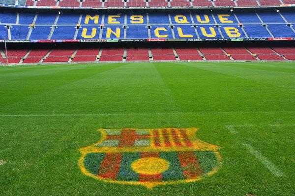 Inside Camp Nou, FC Barcelona's historic coliseum.