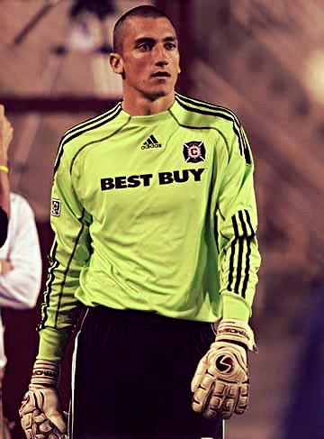 A young Nick Noble with the Chicago Fire.