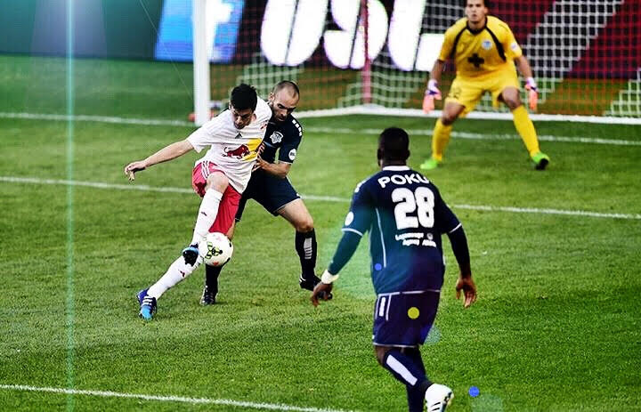 Alex Clay in action for Red Bull II last season at Red Bull Arena