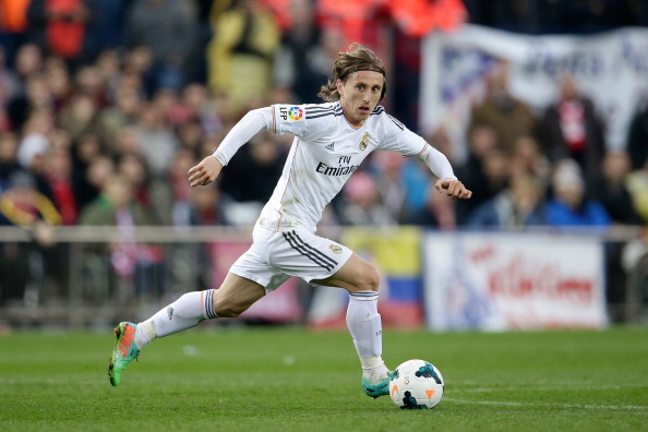 Luka Modric on the ball for Real Madrid