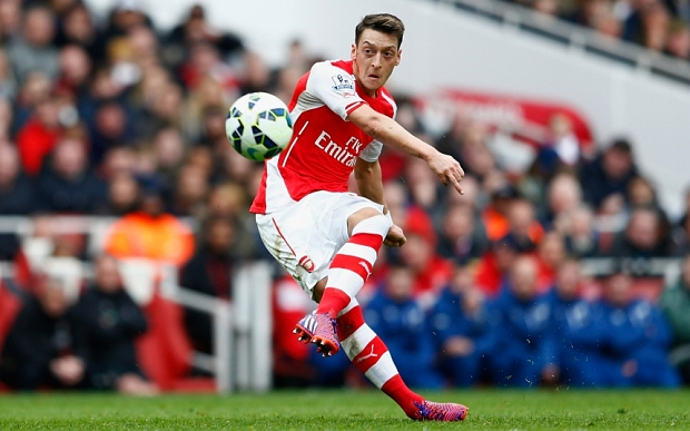 Ozil has been one of the best play makers in the EPL this season, leading Arsenal to title contention (Getty images)