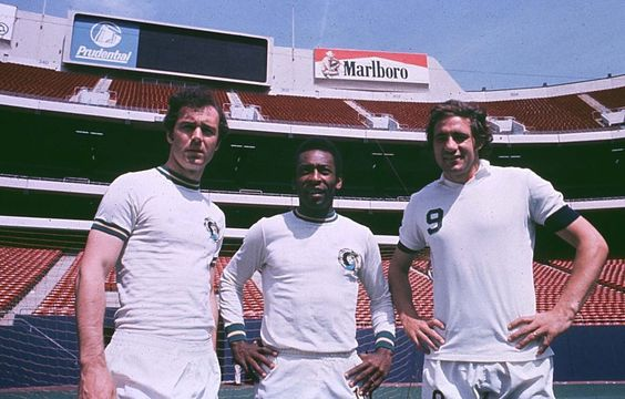 Franz Beckenbauer, Pele, and Giorgio Chinaglia playing for the NY Cosmos in the 1970s, Is MLS heading for same fate as the old NASL? source http://www.nasljerseys.com/Players/B/Beckenbauer.Franz.htm